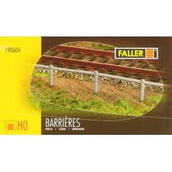 6 Barrières SNCF Béton, 1242 mm Faller 190604