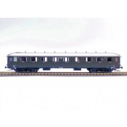 Voiture NS AB7522 vert olive, toit argenté Ep III HO Exact-Train EX10021