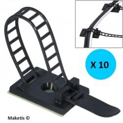 Serre-câbles auto-adhésif en nylon (10 pièces) MOD10100