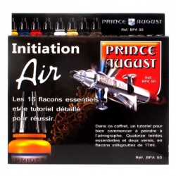Coffret d'initiation Prince August Air 16 flacons et 2 pinceaux