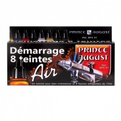 Coffret de démarrage Prince August Air 8 flacons.