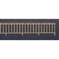 Garde corps métal pour pont - Echelle N CMED-054-2-N
