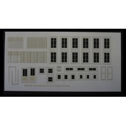 Portes, fenêtres, volets métal (petite taille) maison de ville HO CMED-017m