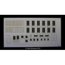 Fenêtres, volets bois (petite taille) maison de ville HO CMED-017m