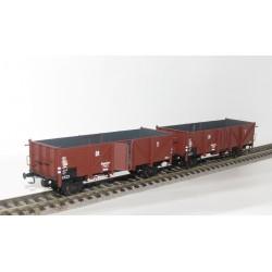 Set de 3 wagons tombereaux DRG Klagenfurt Ommu Ep II HO Exact-Train EX20140