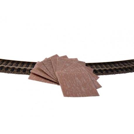 10 patins pour polissage des rails grain 400 Schienenreiniger