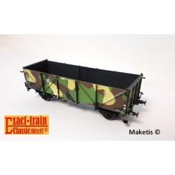 Wagon tombereau DRG Klagenfurt Camouflage (Porte en bois) Ep II HO Exact-Train EX20352