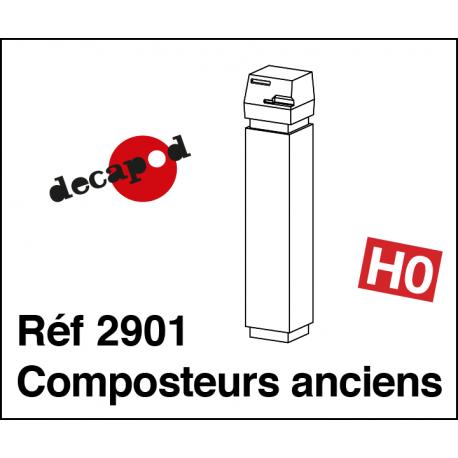 Vintage composters (2 pcs) H0 Decapod 2901 - Maketis