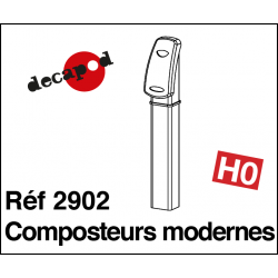 Composteurs modernes (2 pcs) HO Decapod 2902 - Maketis
