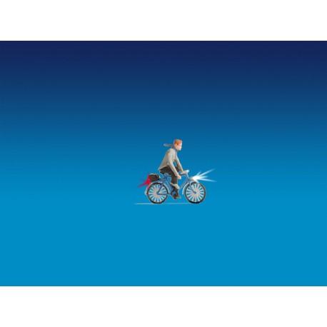 Cycliste illuminé HO Noch 17572