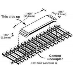 Dételeurs magnétiques sur voie code 100 Kadee 380-321 (2 pièces)