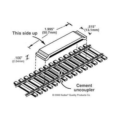 Dételeurs magnétiques sur voie code 83 Kadee 380-322 (2 pièces)