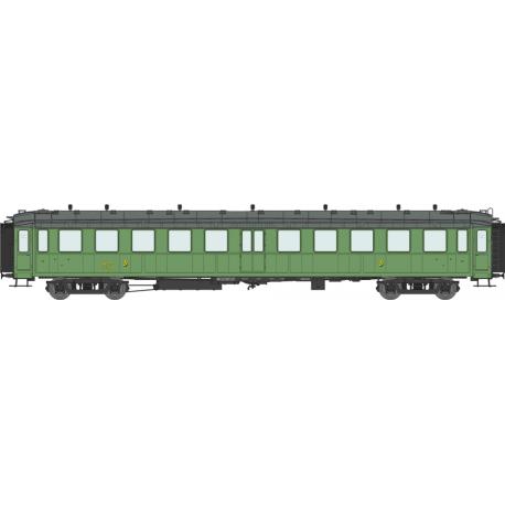 Voiture « Bacalan » C11 échelle EP IIIa SNCF vert PLM HO REE VB-232