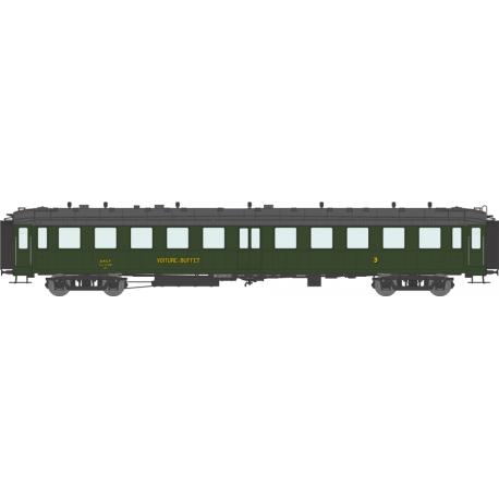 Voiture « Bacalan » C4s échelle EP IIIa SNCF HO REE VB-233