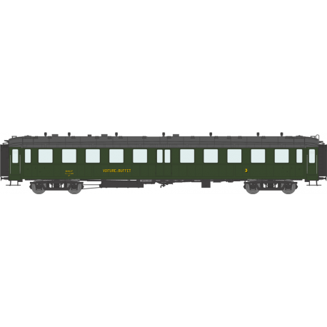 Voiture « Bacalan » C4s buffet échelle EP IIIa SNCF HO REE VB-234