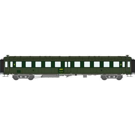 Voiture « Bacalan » B11 reprises de peinture EP IV SNCF HO REE VB-237