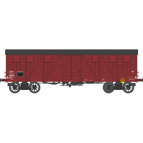 Wagon couvert TP 2 portes EP IIIa SNCF lyw 417826 HO REE WB-523 - Maketis
