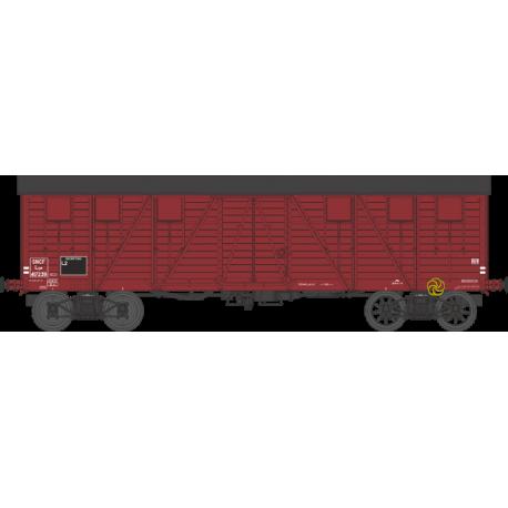 Wagon couvert TP 2 portes EP IIIb SNCF lyw 417239 HO REE WB-526 - Maketis
