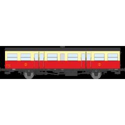Voiture Sud-Ouest, grande gouttière, porte-lanternes modernes, rouge et crème Autorail Ep.III B HO REE VB-156
