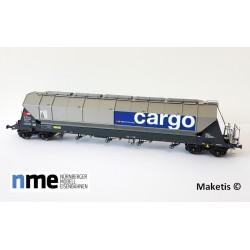 Wagon céréalier Tagnpps 96,5m³ SBB, argent EP VI HO NME 510608 - Maketis