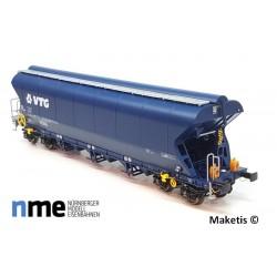 Wagon céréalier VTG avec feux de fin de convoi SNCF Ep VI HO NME 504696