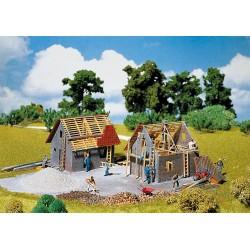 Maison en construction HO Faller 130246
