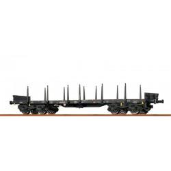 Wagon plat à bogies type Rmms 663 DB Ep VI HO Brawa 47113