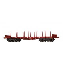Wagon plat à bogies type Remms TSS Ep VI HO Brawa 47115 - Maketis