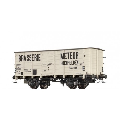 Wagon couvert G10 Brasserie Meteor SNCF Ep III HO Brawa 49701 - Maketis