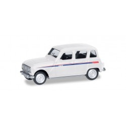 """Renault R4 """"Jogging"""" bande rouge et bleu HO Herpa 030199 - Maketis"""