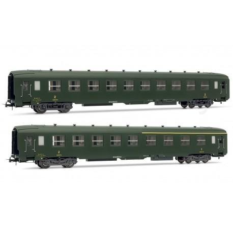 Coffret de 2 voitures DEV AO 1 voiture mixte et 1 2ème classe Ep IIIb HO Jouef HJ4103 - Maketis