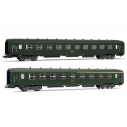 Coffret de 2 voitures DEV AO 1 voiture 1ère et 2ème classe Ep IV HO Jouef HJ4104