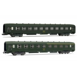 Coffret de 2 voitures DEV AO 1 voiture 1ère et 2ème classe Ep IV HO Jouef HJ4104 - Maketis
