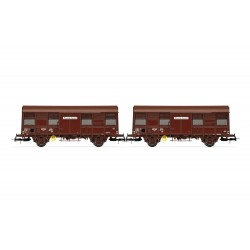 "Coffret 2 wagons couverts Gss 4-02 SNCF ""Provence Express"" Ep IV HO Jouef HJ6167 - Maketis"