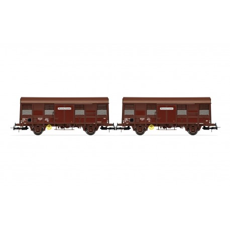 """Coffret 2 wagons couverts Gss 4-02 SNCF """"Provence Express"""" Ep IV HO Jouef HJ6167 - Maketis"""