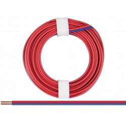 Câblage souple multibrins double 0,14 mm² / 5 m rouge-bleu Donau 218-02SB - Maketis