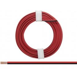 Câblage souple multibrins double 0,14 mm² / 5 m rouge-noir Donau 218-5 - Maketis