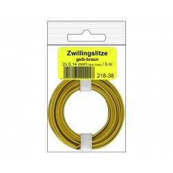 Câblage souple multibrins double 0,14 mm² / 5 m jaune-brun Donau 218-38SB - Maketis