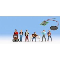 "Module son ""Musiciens de rue"" et 6 figurines N Noch 12955"