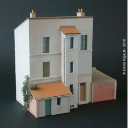 Maison de ville 2 étages étroite échelle HO Cités-Miniatures BV-012-HO