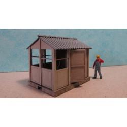 Cabine d'aiguillage HO (petite), toit 2 pentes, pack de 2