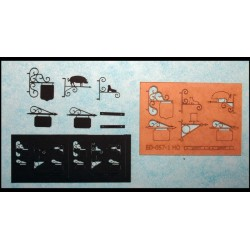 6 enseignes en fer forgé Echelle HO Cités Miniatures ED-057-1-HO