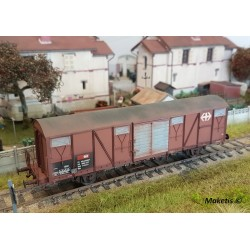 Wagon couvert CFF-SBB Gbs Ep V HO Exact-Train EX20427 Patiné par Franck Blondel