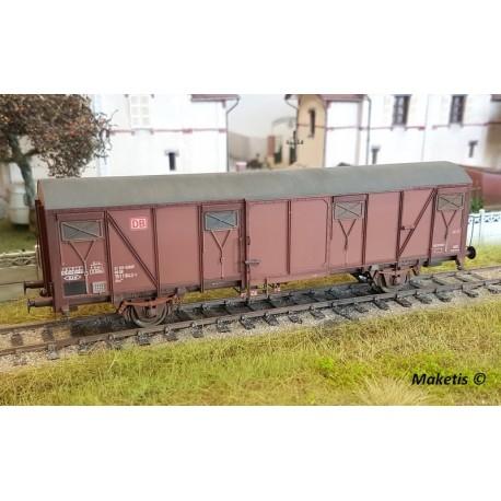 Wagon couvert DBAG Gbs 252 avec logo DBAG Ep V HO Exact-Train EX20412