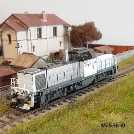 Locomotive Diesel BB60072 ETF Ep VI Digital Son HO PIKO 96478