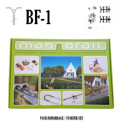 Complete Set Magnorail + 2 cyclists H0 in kit. MRBF-1 - Maketis