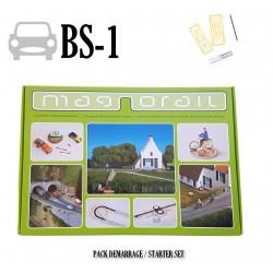 Komplett-Set Magnorail + 8 Fahrzeugschleifer HO, TT, N, Z MRBS-1 - Maketis