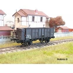 Wagon tombereau OCEM 29 Brun Guérite EP III SNCF HO REE WB-482