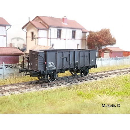 Wagon tombereau OCEM 29 Brun Guérite EP III SNCF HO REE WB-482 - Maketis