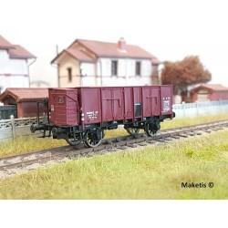 Wagon tombereau OCEM 29 Guérite Rouge Sideros EP II PLM HO REE WB-478 - Maketis